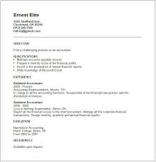 Gallery Of Junior Accountant Resume Example Free Templates