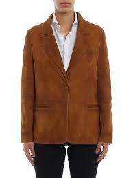 ikrix golden goose leather jacket ermada monkey brown soft suede blazer