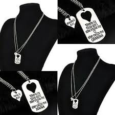 Cute <b>2PC</b>/<b>Lot</b> Charm Gift Necklace Daughter Dad Mother Gifts Party ...