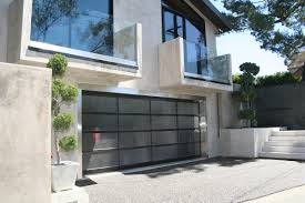 modern metal garage door. Frosted Glass Garage Sliding Door For Modern House Design With Exposed Concrete Wall Exterior And Bathroom Balcony Ideas Metal
