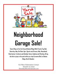 Neighborhood Garage Sale Flyer Template Yahoo Image Search
