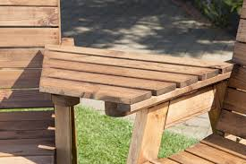 uk made fully assembled heavy duty wooden garden companion seat set with coffee table 4
