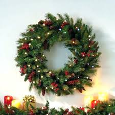 large outdoor lighted wreaths en wreath led