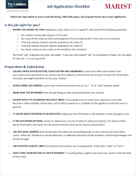 9 Last Minute Job Application Checklist Examples Samples In Pdf