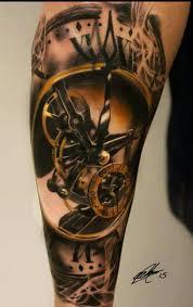 часы тату Tattoo татуировка часы этническая татуировка и идеи