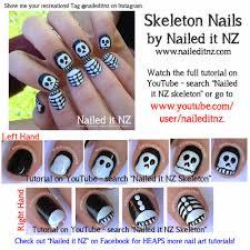 Halloween Nail Art Tutorials - Ghost, Jack-O-Lantern & Skeleton!