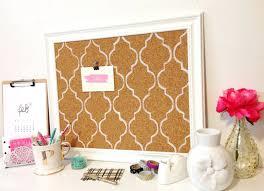 White Frame Cork Board Room Decor Decorative Cork Tile Board How To Create  The Home Improvement