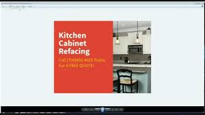 kitchen cabinet refacing davidson nc youtube