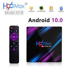 2020 H96 MAX RK3318 Smart TV Box Android 10.0 4GB 32GB 64GB 4K Youtube  Media Player h96MAX TVBOX Android TV Set Top Box 2GB16GB|Set-top Box