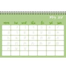 calendar for the month of may calendar desk may month starts week vector images 19