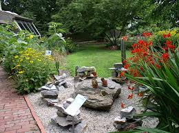 Small Picture Outdoors Back Yard Design With Rock Garden And Solid Pathway