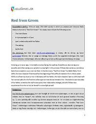 analytical essay om red from green dk analytical essay om red from green