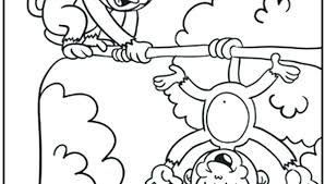 Cute Monkey Coloring Pages Monkeys Coloring Pages Free Printable