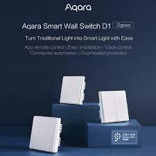 ✘Công tắc đèn thông minh Xiaomi Aqara ZiGBee điều khiển không dây bằng ứng  dụng trên điện thoại và trung gian