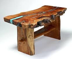 rustic log coffee table wooden coffee table with turquoise inlay by treestump woodcrafts rustic log cabin