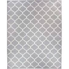 washable moroccan trellis light grey 8 ft x 10 ft stain resistant area rug