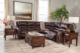 Rent Living Room Furniture Rent Signature Design Manzanola Reclining Sectional Chocolate