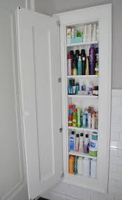 8 extra tall medicine cabinet with wooden door