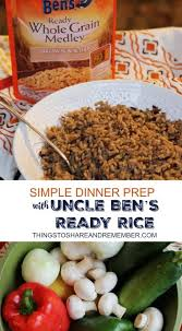 simple dinner prep with uncle bens ready rice