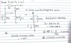 Electrical Design Analysis Example Dc Diode Circuit Analysis Using Ideal Diodes Exam Problem
