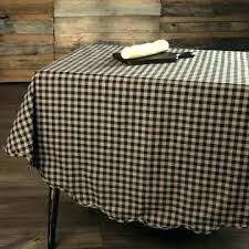 red gingham tablecloth round disposable table cloth paper covers the whole plastic party