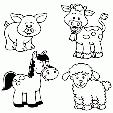 Animals ~ Baby Farm Animal Coloring Pages Wecoloringpage Baby ...