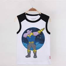 <b>Hot Sale Boys Tanks</b> Funny Swag Thanos 100% Cotton Summer ...