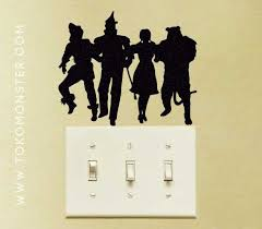 wizard of oz wall decals tokomonster wizard of oz 2 light switch wall decal sticker