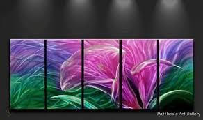 metal wall art abstract modern flowers