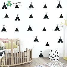 triangle wall decor style triangles wall decor sticker art decoration kid nursery bedroom wall art vinyl wooden triangle wall decor