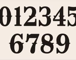 NUMBER Reusable Stencils design 002/ NUMBERS 0-9 / 6 SIZES to choose from