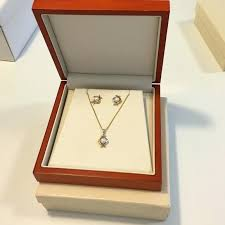 pearl gold earrings necklace set from costco diamond pendant canada