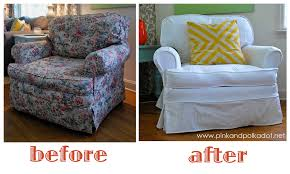white slipcover club chair by the slipcover girl