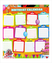 55 Beautiful Birthday Calendar Template Download – Template Free