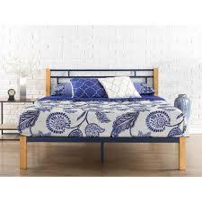 full platform bed. Zinus Epic Metal And Wood Blue Full Platform Bed Frame