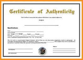10 11 Art Certificate Of Authenticity Template Wear2014 Com