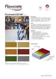 Flowcrete Color Chart Flowfresh Esd Mf 4 Mm Manualzz Com
