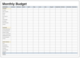 Monthly Budget Excel Spreadsheet Template Free Budgeting Uk