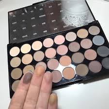 32 shade palette flawless matte flawless matte eyeshadow palette by makeup revolution health beauty makeup on
