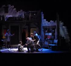 lighting by jeffrey e salzberg signals shifting action and tone all in all this is about as close to perfect as professional theater can be