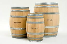 barrel size 50 liter french oak barrel