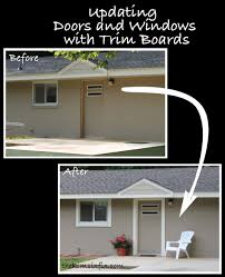 How To Use Trim To Update Exterior Doors And WIndows The Kim Six Fix - Exterior windows