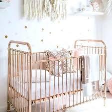 metallic rose gold crib baby bedding