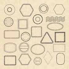 Stamps Template Template Of Empty Vintage Postal Stamps For Labels Design