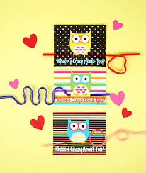 owl valentine s day cards to print. Wonderful Valentine Owl  Crazy Straw Valentines Cards In Valentine S Day To Print R
