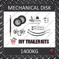 single axle running gear kit disk brake 1400kg parts only