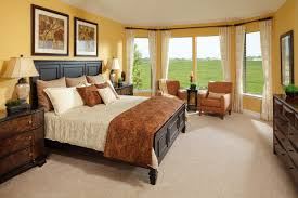 Bedroom:Beautiful Contemporary Master Bedroom Interior With Earth Tone And  Warm Lighting Idea Terrific Orange