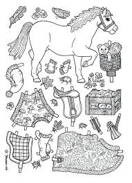 Paper Dolls Coloring Page Pony Doll Printable Pages Free