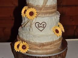 Decorating With Raffia Burlap Raffia And Sunflowers Cakecentralcom