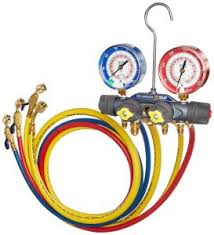 air conditioning gauges. 9. yellow jacket 49968 charging manifold air conditioning gauges b